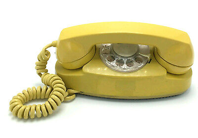 YELLOW PRINCESS ROTARY BELL SYSTEM PHONE vintage