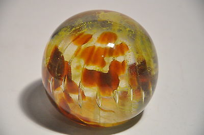 Vintage Isle Of Wight Studio Art Glass Paperweight Unsigned
