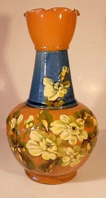 Exeter Pottery Tall Floral Vase Torquay