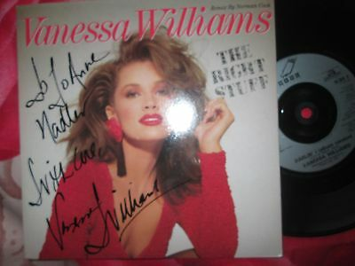 Vanessa Williams ‎The Right Stuff (Remix By Norman Cook) Signed* 7inch Single