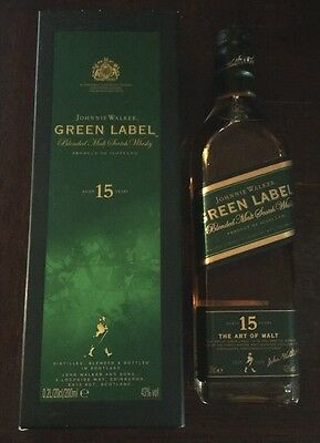 RARE Discontinued  Johnnie Walker Green Label 200ml *No Reserve*