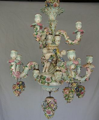 Antique Dresden/Meissen Chandelier- German-Late 18th-Early 19th Century