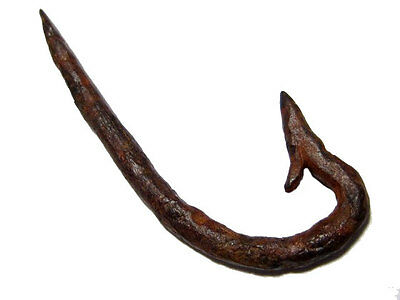 Roman Period Well Preserved Iron Fishing Hook, Top Condition+++