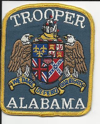 Trooper. Al Alabama State Police  Old cheese cloth back