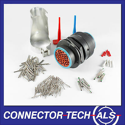 Deutsch HDP20 47-way Connector Complete Kit Panel Bulkhead Firewall #HDP20-47-TR