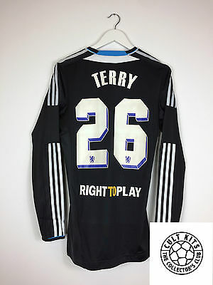 Chelsea TERRY #26 11/12 *PLAYER ISSUE* L/S Away Football Shirt (L) Soccer Jersey