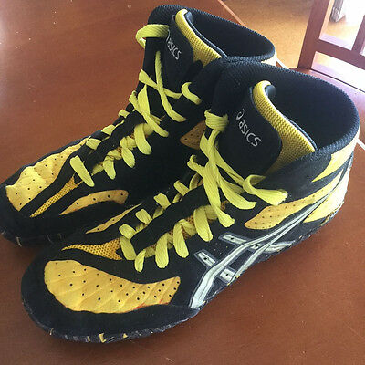 Asics Aggressor Wrestling Shoes Size 9 for Grappling BJJ MMA UFC Boxing Judo