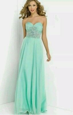 Beaded Long Chiffon Bridesmaid Formal Gown Party Cocktail Evening Prom Dress