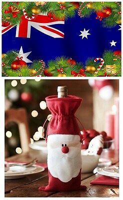Christmas Red Wine Bottle Cover Bags Elf Champagne Xmas Home Decoration Gift