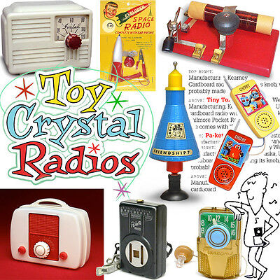 Crystal radios classic toys featured in this fun full-color book, vol 2
