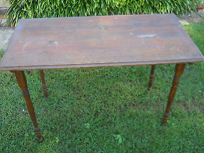 Antique/Vintage Wood Folding Sewing Table with Yard Measure