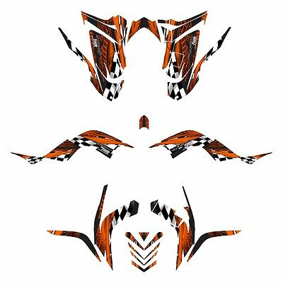 2006 - 2012 Raptor 700 graphics full coverage Yamaha decal kit NO3500 Orange