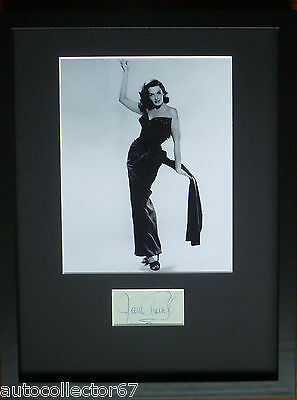 GENUINE JANE RUSSELL signed AUTOGRAPH book page display