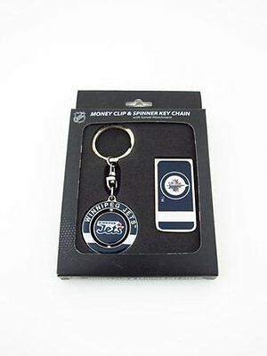 J.F. Sports JTSSPIMON-X Winnipeg Jets Money Clip Keychain Combo