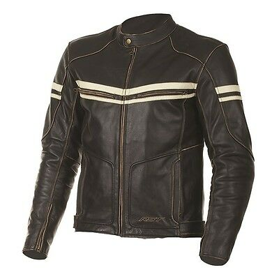 RST Roadster Classic Vintage Brown Fade Motorcycle Leather JACKET Mens Clothing