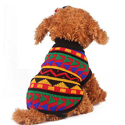 NEW Dog Puppy Warm Jumper Knit Sweater Clothes Knitwear Costume Coat Apparel Hot