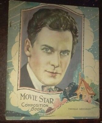 Original 1920's Hollywood Movie Star Unused composition Book Tom Meighan
