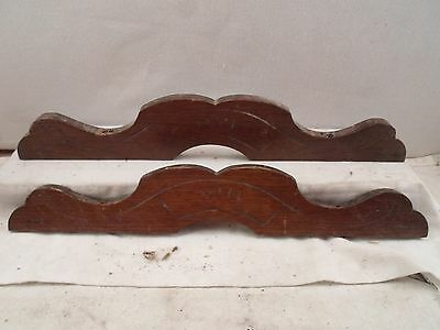 2 pieces of matching decorative wood trim, architectural details