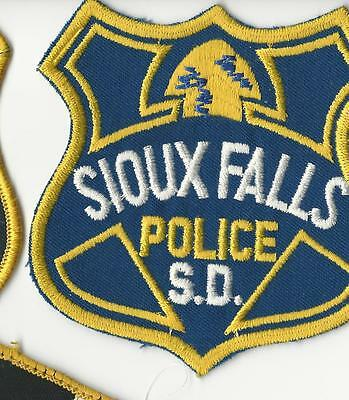 Sioux Falls Police South Dakota SD  with cheese cloth back