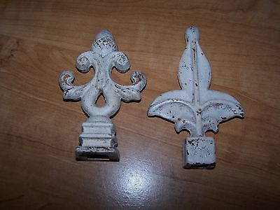 CAST IRON FINIALS.....2 different finials, both with square openings