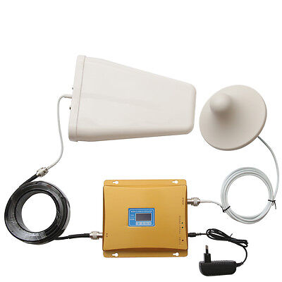 LCD Display 3G CDMA 850 4G LTE 1900 MHz 65dB Cell Phone Signal Amplifier Booster