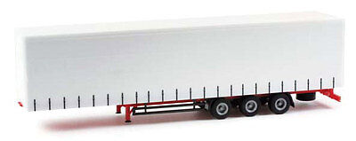 CURTAINSIDE TRAILER Lowliner Tri-Axle HO 1/87 Scale Plastic Herpa Promotex 75664
