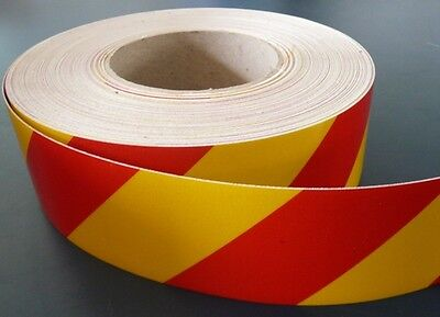 3M™  REFLECTIVE SAFETY TAPE CLASS 2 RED & YELLOW STRIPE TAPE 50mm x 5m