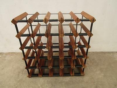 C48012 Timber Metal 30 Bottle Bordex Wine Rack
