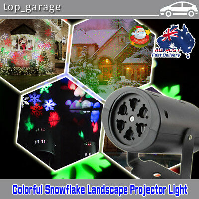 Snowflake Shower Laser Light LED Motion Projector Indoor Christmas Party Stage