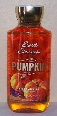BATH & BODY WORKS SWEET CINNAMON PUMPKIN SHOWER GEL 10fl oz/295ml GREAT SCENT!