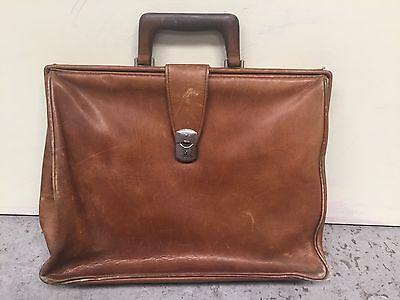 Vintage TAN BROWN LEATHER DOCTORS BAG BRIEFCASE