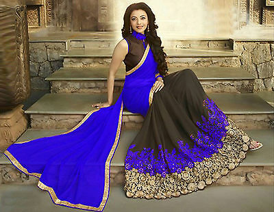 New Indian Bollywood Party Wear Saree Pakistani Wedding & Bridal Ethnic Sari