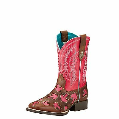 ARIAT - Kid's Crossway - Powder Brown / Hot Pink - ( 10017314 ) - New