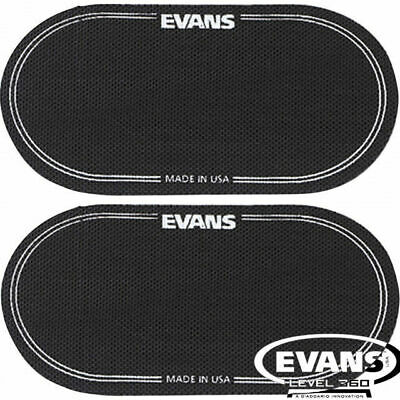 Evans Twin pack Black Nylon Double Bass Drum Beater Patch Protector EQPB2