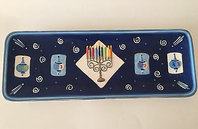 "Collectible 16"" Chanukah Ceramic Dish Tray"