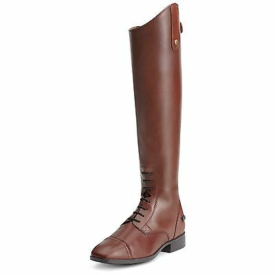 ARIAT - Women's Challenge Contour Sq Toe Zip Boot - Cognac - ( 10012957 ) - New