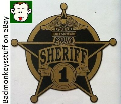 HARLEY DAVIDSON MOTORCYCLES SHERIFF DEPUTY Sticker Decal Motorcycle Constable