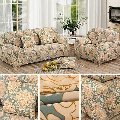 Flower Stretch Fit Sofa Cover Lounge Couch Removable Slipcover Protector Set