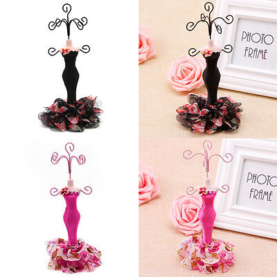 Lady Mannequin Holder Earring Bracelet Necklace Jewelry Model Stand Display
