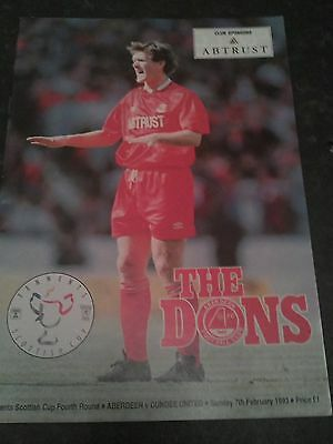 Aberdeen V Dundee United Scottish Cup 92/93