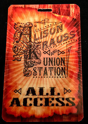 Alison Krauss and Union Station - All Access Tour Laminate Backstage Pass