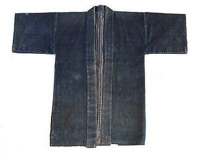 "Japanese Antiques-Indigo dyed cotton ""Noragi"""