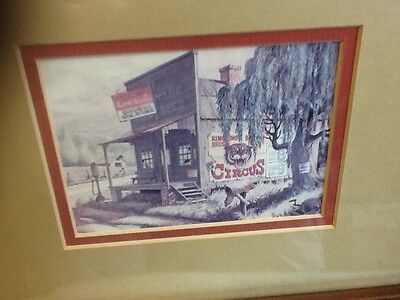 Coca-Cola Country Store Picture in Wood Frame