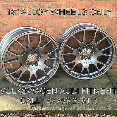 """18"""" Bbs Ch Style Gunmetal Grey Alloy Wheels Only Audi A6 - Set Of 4"""