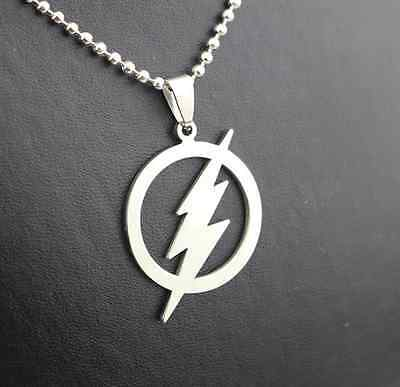 NEW DC Comics The Flash Silver Plated Necklace - Perfect Gift