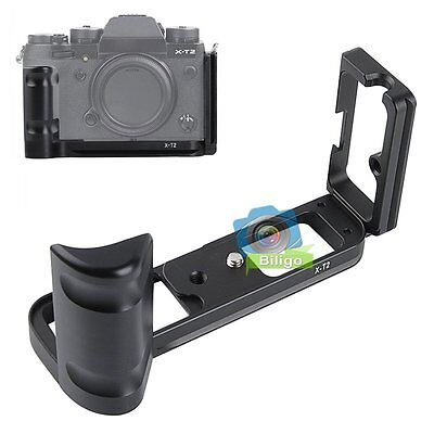 Quick Release L-Bracket Plate Hand Grip For Fujifilm Fuji X-T2 XT2 Camera【US】