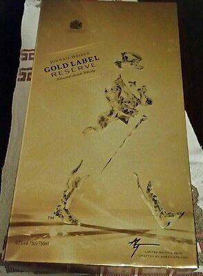 RARE Johnnie Walker Gold Label Limited Edition 750ml Box Set *No Reserve*