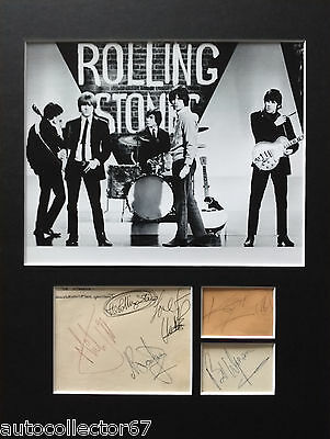 Genuine The Rolling Stones AUTOGRAPHS signed 1964 Mick Jagger Keith Richards