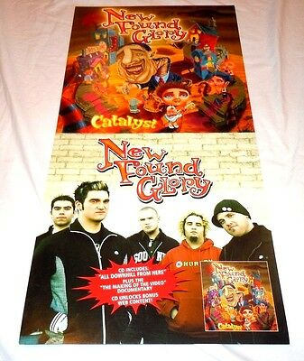 NEW FOUND GLORY~Catalyst~Promo Poster Flat~Double Sided~12x24~NM~2004