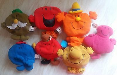 "Mr Men/Little Miss 2001 3 Year Anniversary Reversible toys 5-6"" & Mr Greedy"